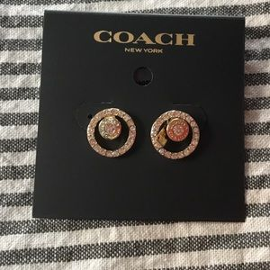 Coach signature earrings